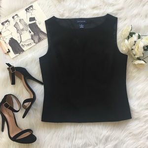 | Ann Taylor | Black Structured Tank Top